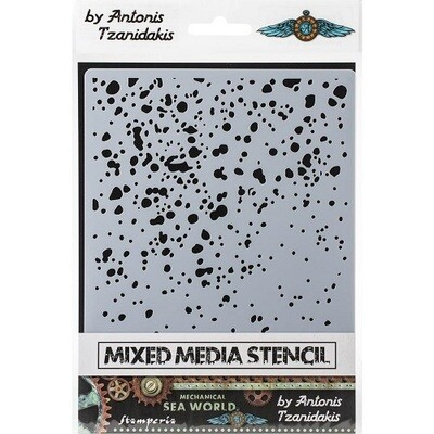 Stamperia Stencil - Rust 1 - By Antonis Tzanidakis