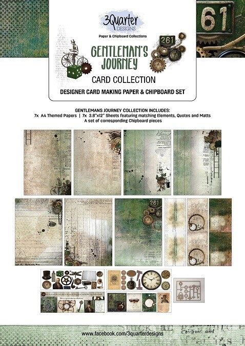 3 Quarter Designs - Card Making Kit - Gentleman's Journey  Collection
