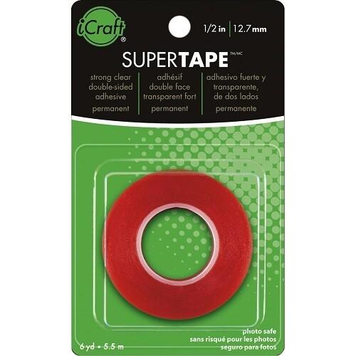 """iCraft Super Tape - 1/4"""" x 6Yd"""