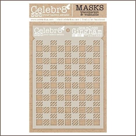Celebr8 Stencil / Masks - Seamless Gingham - SM4643