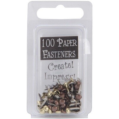 Creative Impressions - Assorted Brads 3mm 100pack