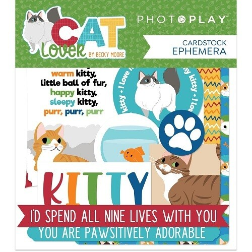 Photoplay - Cat Lover Collection - Ephemera Pack