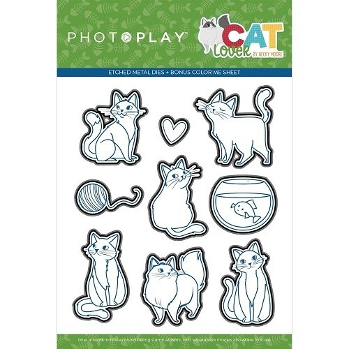 Photoplay - Cat Lovers Collection Etched Metal Die