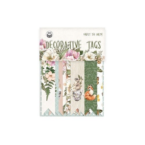 P13 - Forest Tea Party -Tags 9 pieces