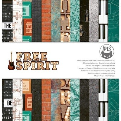 P13 - Free Spirit 12 x 12 Paper Collection Pack