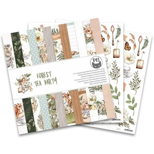 P13 - Forest Tea Party 12 x 12 Paper Collection Pack