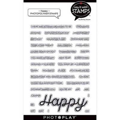 Photoplay - Say it With Stamps -Happy