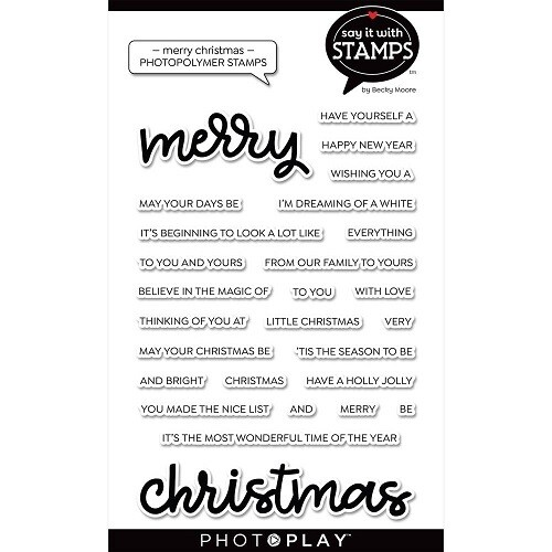Photoplay - Say it With Stamps -Merry Christmas