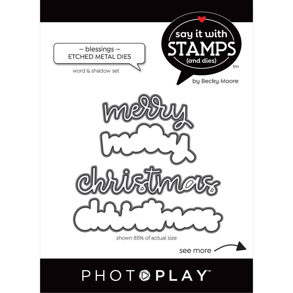 Photoplay - Say it with Stamps & Dies - Merry Christmas  Die