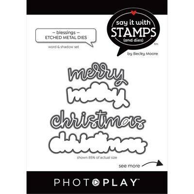 Photoplay - Say it with Stamps & Dies - Merry Christmas  Die
