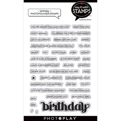 Photoplay - Say it With Stamps -Birthday