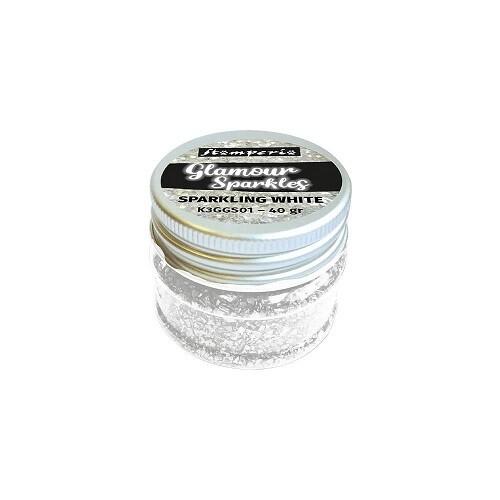 Stamperia - Sparkles - Sparkling  White - 40grams