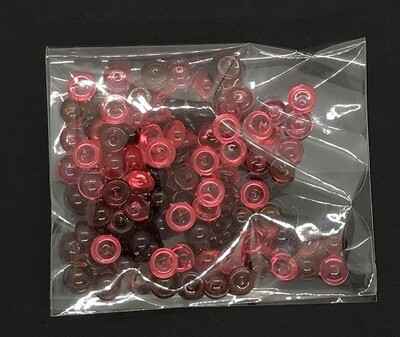 Droplets - Acrylic Domes Red Assortment