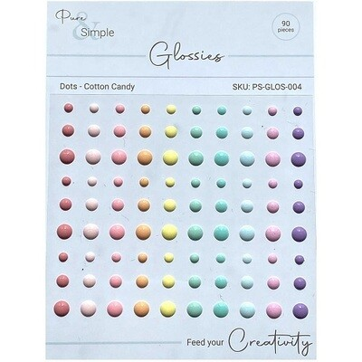 Pure & Simple - Glossies - Dots - Cotton Candy