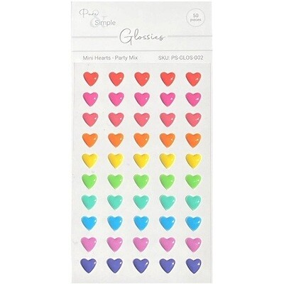 Pure & Simple - Glossies - Party Mix  - Hearts