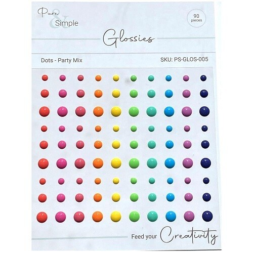 Pure & Simple - Glossies - Dots - Party Mix