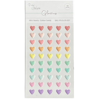 Pure & Simple - Glossies - Cotton Candy - Hearts