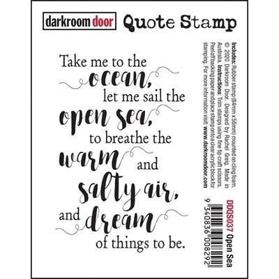 Darkroom Door - Quote Stamp DDQS037 Open Sea