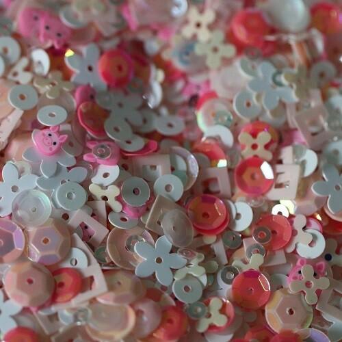 Dress My Craft - Pink Piggy Sequins - 25grms