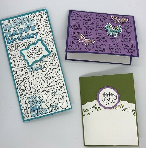 Stampendous - Card Class January 2021 (3 cards)