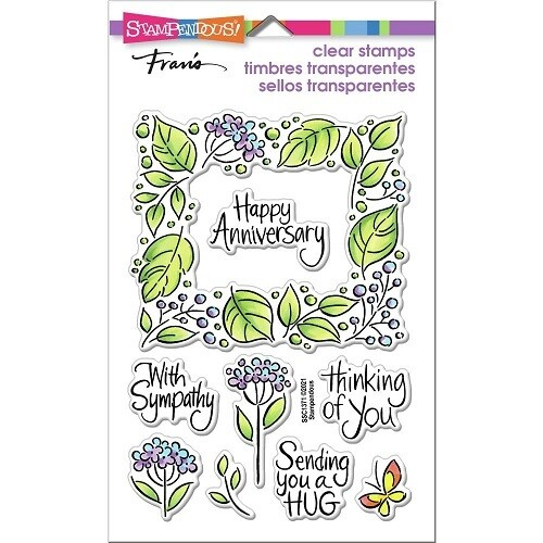 Stampendous - Leafy Frame Perfectly Clear Stamps - SSC1371