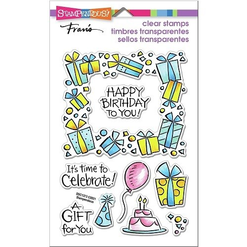 Stampendous - Gift Frame Perfectly Clear Stamps - SSC1373