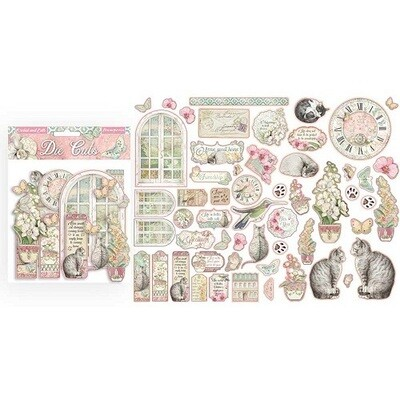 Stamperia - Orchids and Cats Collection -  Die Cuts - 55 pcs
