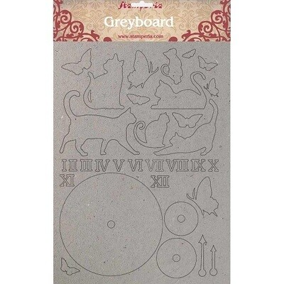 Stamperia Naked Chipboard Set - Orchids and Cats Collection