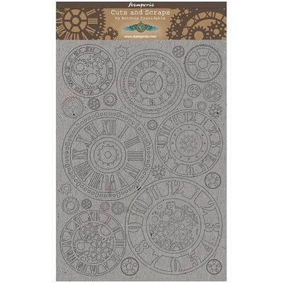 Stamperia Naked Chipboard Set - Gears A4 - Sir Vagabond Collection