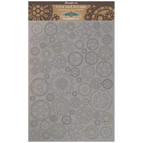 Stamperia Naked Chipboard Set - Small Gears  A4 - Sir Vagabond