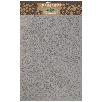 Stamperia Naked Chipboard Set - Small Gears  A4 - Sir Vagabond Collection