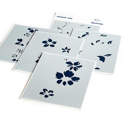 PinkFresh Studios - Seamless Floral Panel - Layered Stencils - PFST11 -   5 pieces