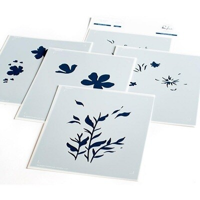 PinkFresh Studios - Garden Florals - Layered Stencils - PFST14 - 5 pieces