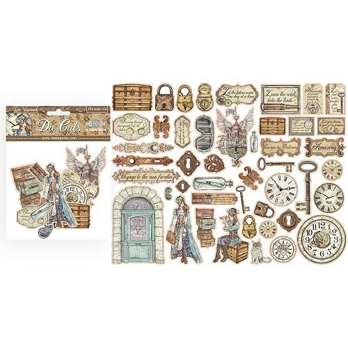 Stamperia - Lady Vagabond Collection -  Die Cuts - 44 pcs