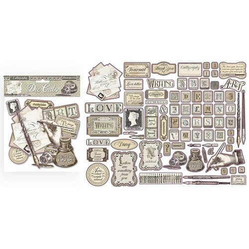 Stamperia - Calligraphy Collection -  Die Cuts - 76 pcs