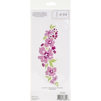 Pink Fresh - Floral Notes Stencil -  PFSST3220