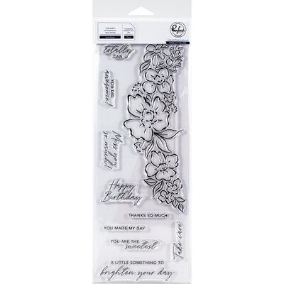 Pink Fresh - Floral Notes Stamp PFCS3220