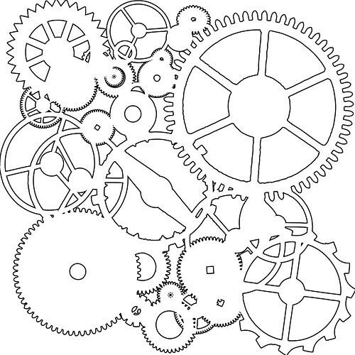 """The Crafters Workshop - Mini Gears 6"""" x 6"""" Stencil"""
