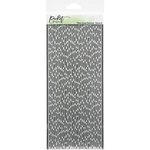 "Picket Fence Studios - Slimline Dashes Stencil SC-198 - 4"" x 9"""