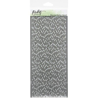 Picket Fence Studios - Slimline Dashes Stencil SC-198 - 4