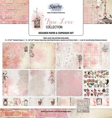 3 Quarter 12 x 12 Collections -True Love Collection