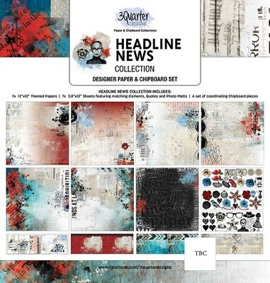 3 Quarter 12 x 12 Collections -Headline News Collection