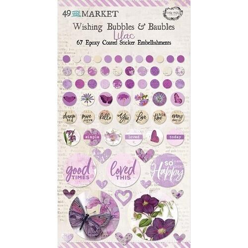 49 & Market - Wishing Bubbles & Baubles - Lilac - 67 Pieces