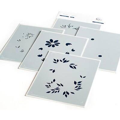 PinkFresh Studios - Daisy Wreath - Layered Stencils - PFST15 - 5 Pieces