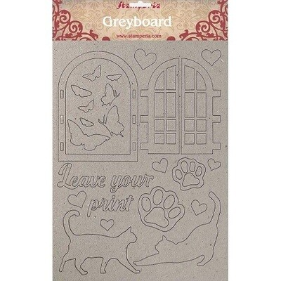 Stamperia Naked Chipboard Set - Orchids and Cats - Leave Your Print