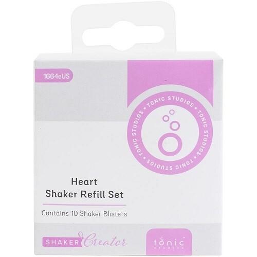 Tonic Studios -  Shaker Refills - Heart - SSDS 1664E -10 Pack