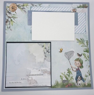 Scrapbook Affair - About A Boy Double Layout