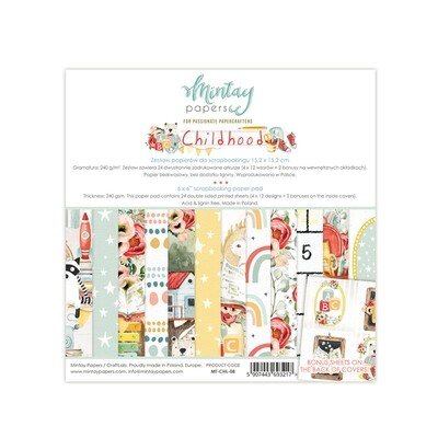 Mintay by Karola - Childhood Collection 6 x 6 Scrap Pad