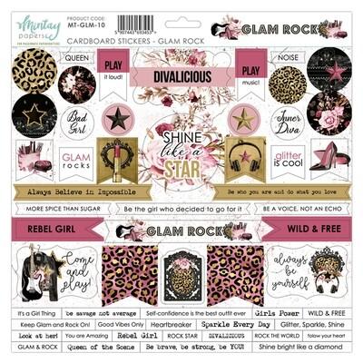 Mintay - Glam Rock- Cardboard Stickers 12 x 12 Sheet