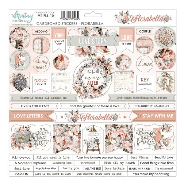 Mintay - Florabella- Cardboard Stickers 12 x 12 Sheet